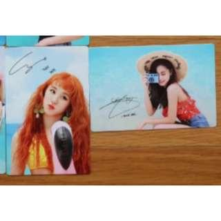 [PO] TWICE Dance The Night Away Official Broadcast Cards
