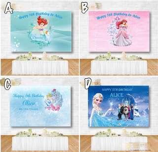 🚚 Customizable Disney Princess Party Poster
