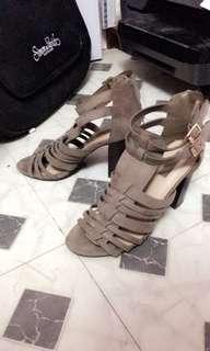 Tan Block Heels (Size 6.5 Forever21)