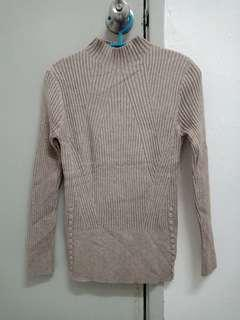 Rib Knitted high neck