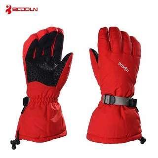 Boodun戶外滑雪運動雙重保護手套