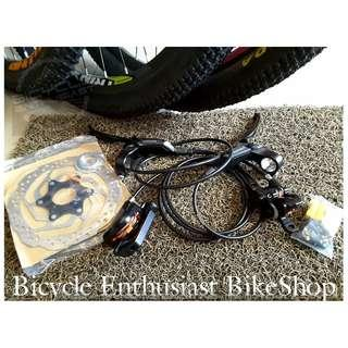 Shimano M315 Brakeset Hydraulic Brake set with Rotors Bike parts, Biking, Cycling, Bicycle