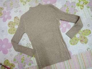 Knitted mock neck