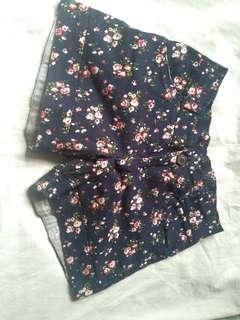 Blue Floral Short