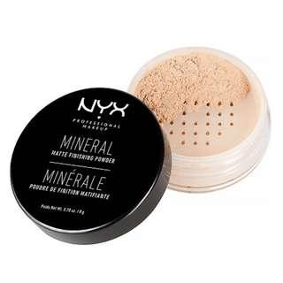 🚚 NYX專業後台礦物蜜粉Mineral ''Set It & Don't Fret It'' Matte Finishing Powder