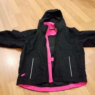3-4 yrs old 3 in 1 Girl's winter jacket