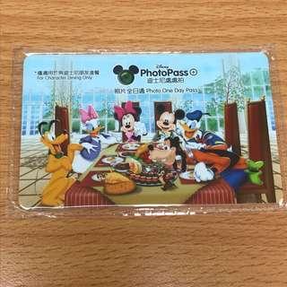 迪士尼 酒店專用 photopass 12月7日到期