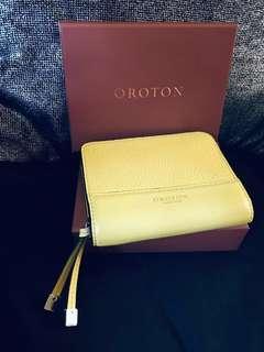 Yellow OROTON wallet