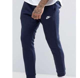 🚚 僅穿幾次 Nike 縮口  棉褲 Cuffed club jogger pants 藍色 長褲 804408-451