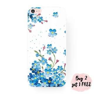 Vibrant Blue Flowers iPhone/Huawei/Oppo/Samsung Case