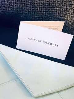 Brand new Leoffler Randall leather clutch purse
