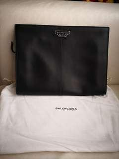 BALENCIAGA DESIGNER LEATHER CLUTCH - ITALY - Clearance!!