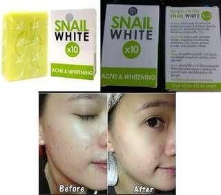 Snail White X10 Green Soap