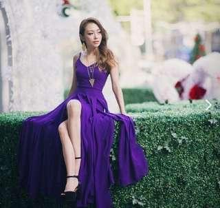 VGY Enya Maxi Dress in Royal Purple