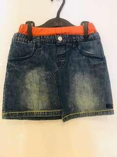 Demin Jean Skirt for Little Girls (Organic)