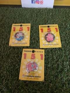 Mix Pokemon Center Button Badge Original Rare