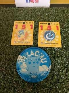 Mix Pokemon Center Button Badge Original Rare free gift