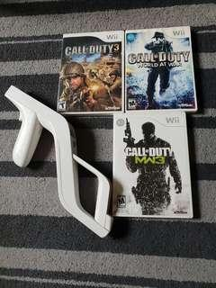 Preloved Wii games Call of duty ultimate bundle w zapper