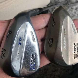 Mizuno MP TP11 52 and 60 degree wedges gap and lob wedge