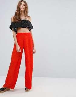 New Look Polka Dot Wide Leg Pants