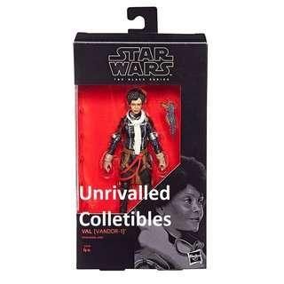 [In hand] Hasbro Star Wars The Black Series 6 inch - Val (Vandor-1) (from Solo), Grand Moff Tarkin, Qi'ra or Qira