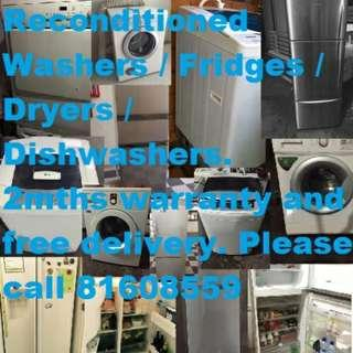 Used good condition Appliances (Come with free delivery plus two months warranty)