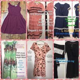 UK8 pocket dress bundle