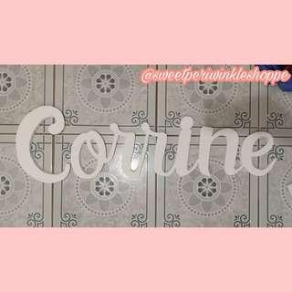 Corrine Styro Name Backdrop