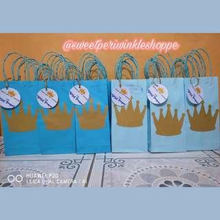 Little Prince Loot Bags with tag