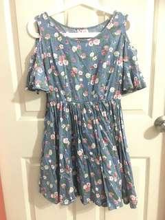 Floral Babydoll Dress ( blessing )