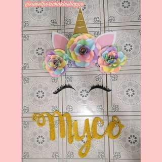 Unicorn Backdrop x Myco Styro Name
