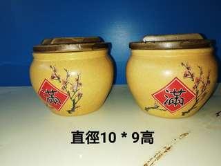 🚚 2個可愛陶罐