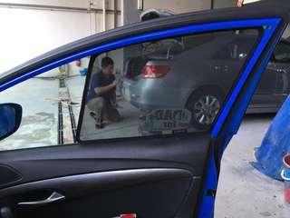 Quality Magnetic sunshades for 2012+ Hyundai i40 sedan (Taxi)