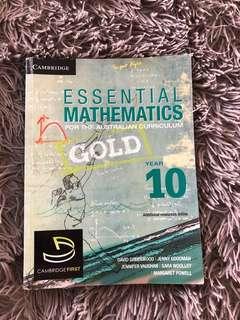 Essential mathematics year 10