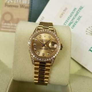 Rolex Datejust 26mm, 69158G champagne dial
