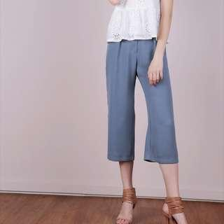 BNWT TTR Clan Straight Leg Culottes in Ash Blue XS