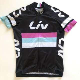 Women's LIV Black Middle Stripes Cycling Jersey (S)