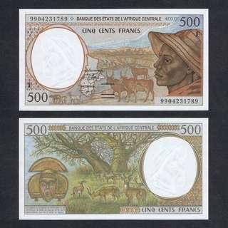 1999 CENTRAL AFRICAN STATES CENTRAL AFRICAN REPUBLIC 500 FRANCS P-301Ff UNC > ZEBU