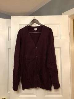 OLD NAVY burgundy cardigan (fits M-L, oversized look)