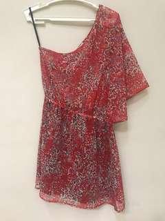 Jellybean Asymmetrical Dress