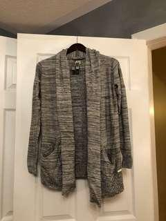 WILFRED grey knit cardigan with silk and cashmere (XS)