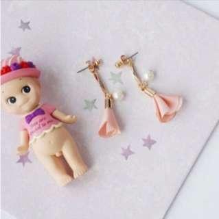 *SALE*INSTOCK* Korean Style Chiffon Pearl Earrings