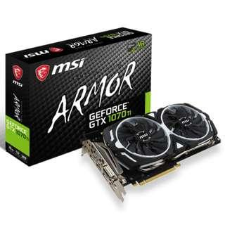 [[[[[全新,送魔物獵人STEAM]]]]MSI GeForce GTX 1070 Ti ARMOR 8G 顯示卡