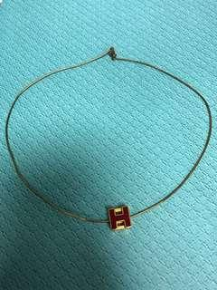 Hermes necklace 頸鏈 gold red