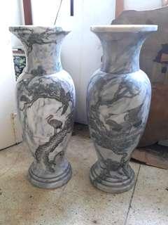 "Big Marble Flower Vase Heigh 3ft 2"". Pic engraved."