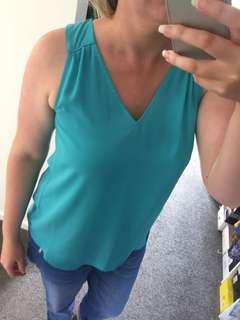 Just Jeans Blue Singlet size 12