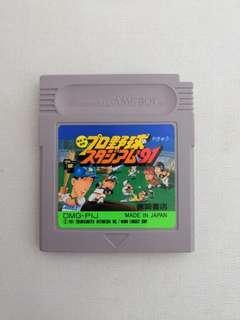 Gameboy プロ野球スタジアム91 棒球 Game Boy