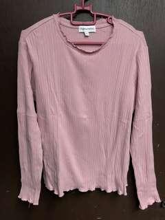 Padini Dusty Pink Long Sleeve Top
