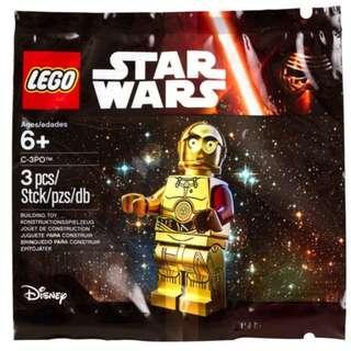 包平郵 全新 LEGO 5002948 The Force Awakens C-3PO Polybag