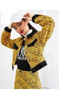 Crop letter jacket